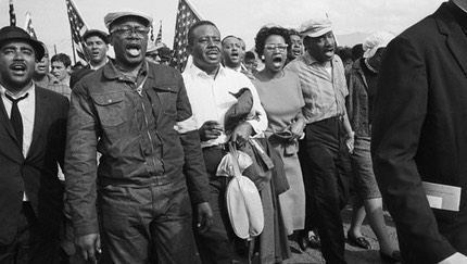 1965 Harris in the Selma to Montgomery March